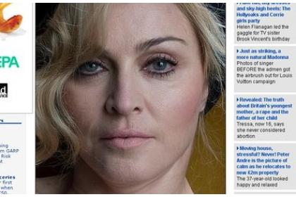 Madonna, increzatoare in ea si fara retusuri