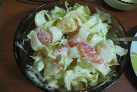 Reteta Salata de portocale cu andive si sos de iaurt