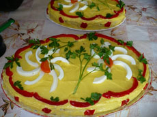 Salata Bouef cu carne de pui